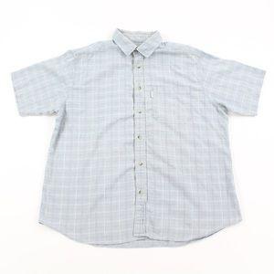 Woolrich Men Short Sleeve Shirt Plaid Button Down